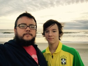Carson and I got up early on Christmas morning to watch the sun rise over the Atlantic Ocean.