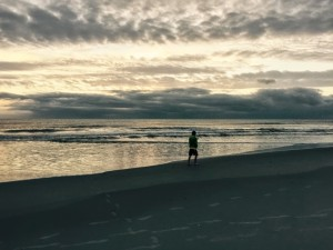 Just before the sun rises at Cocoa Beach, Florida