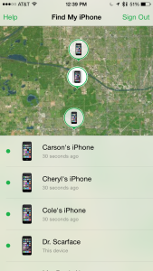 Tools like Find my iPhone allow parents to track their children's whereabouts.