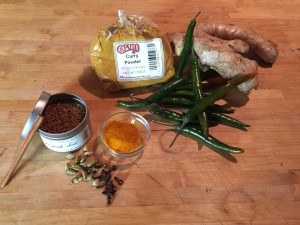 Peppers, curry powder, ginger, fenugreek and cloves are among the flavorings in Fijian goat curry