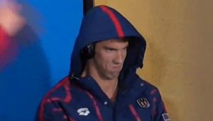 Michael Phelps death stare.