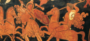 Amazon Warriors on Greek pottery